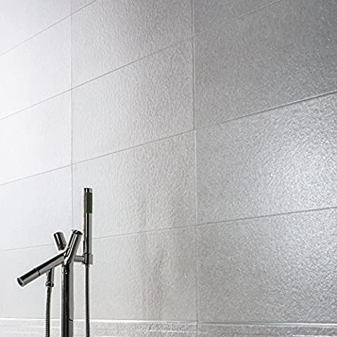 Grey Coloured Ceramic Matt Wall Tiles Bathroom Kitchen Lounge Ensuite - 25 cm x 60 cm