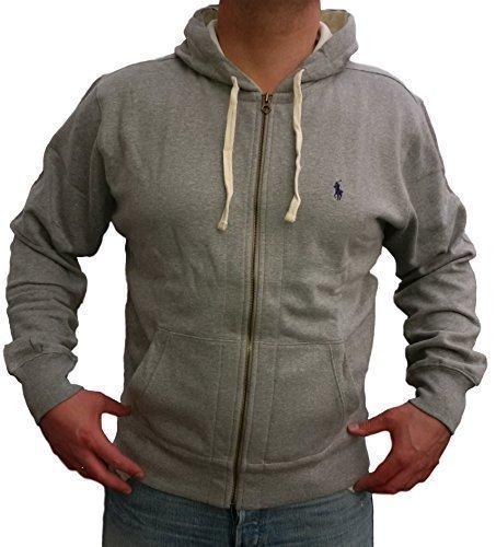 ralph-lauren-polo-mens-fleece-hoodie-jumper-grey-size-smlxlxxl-m-grey-navy-logo