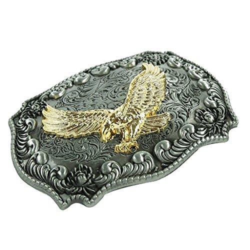 Cowboy Eagle Kopf Stil Gürtelschnalle Antik Bronze Schnalle für Männer