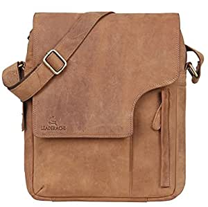 LEADERACHI Hunter Leather 25 Ltr Brown Messenger Bag