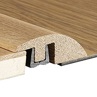 Solid Oak Ramp Reducer Bar for Door Thresholds 14 mm to 18mm Floors (Unfinished 0.9m)