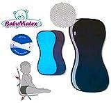 BabyMatex ** PADDIX SCHWARZ ** Atmungsaktive, antiallergische Sitzauflage / Sitzeinlage -- AERO MESH...