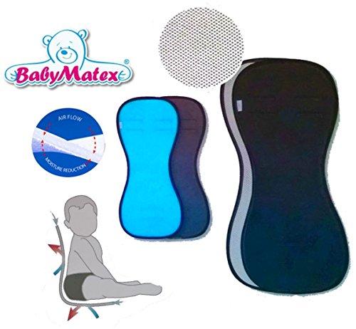 Preisvergleich Produktbild BabyMatex ** PADDIX SCHWARZ ** Atmungsaktive, antiallergische Sitzauflage / Sitzeinlage -- AERO MESH 3D System-- Universal für Babyschale, Autokindersitz, z.B. für Maxi-Cosi, Römer, für Kinderwagen, Buggy, Hochstuhl etc.