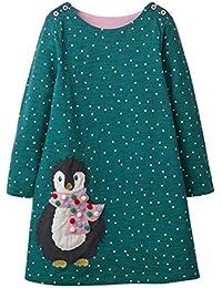 siphly Vestido de niña de Invierno - Vestido de Camiseta - Vestido de niña de Navidad - Vestido de niña de Navidad (3-8 años, 90-140 cm)
