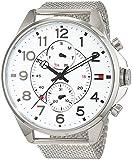 Tommy Hilfiger Herren Analog Quarz Uhr mit Edelstahl Armband 1791277