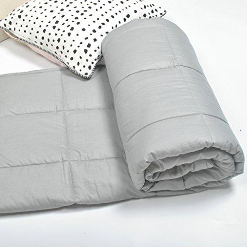 A&Dan Gravity Blanket, Gewichtete Decke Gewichteten Quilt Entlasten Schlaflosigkeit Entlasten Fatigue Entlasten Angst Gewichteten Decke Für Erwachsene 5.4-9Kg ( Farbe : Hellgrau , größe : 150*200cm(9kg) )