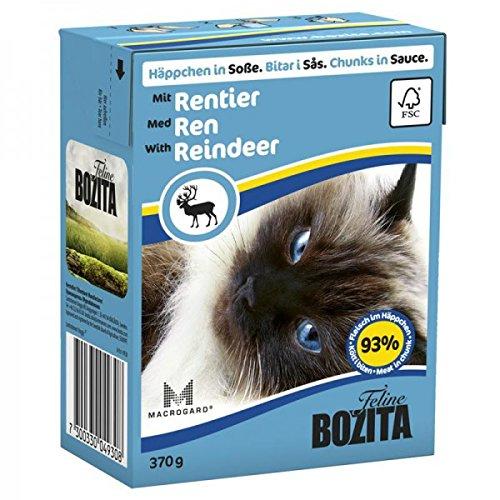BOZITA HÄPPCHEN in Soße mit Rentier 1x370g für Katzen