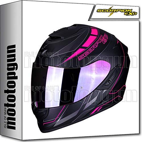 MOTOTOPGUN SCORPION 14-218-211 INTEGRALHELME EXO-1400 AIR CUP MATT BLACK-CHAMELEON-PINK S Matt Cup