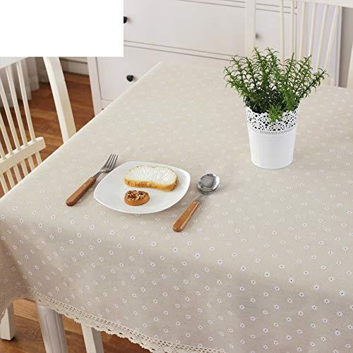 JZX Tischdecke aus Baumwolle und Leinen, Stoff, Gartentischdecke 59X87 Zoll,70x70cm (28x28 Zoll)