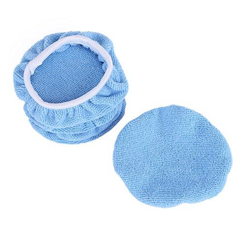 Tiaobug 5 TLG. Set Polierhaube aus Mikrofaser für Auto Poliermaschine Poliertuch Microfasertuch Reinigungstuch Pads Haube 3 Größen zur Auswahl-Durchmesser 9-10 inches