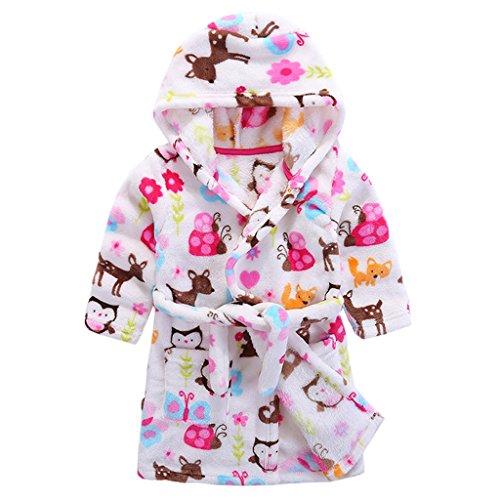 Niños Albornoz con capucha camisón, toalla de baño pijamas Baño robe Cómoda ropa de dormir linda...