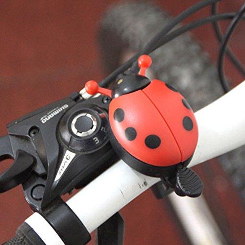 New Fahrradklingel Marienkäfer Marienkäfer Alarm Bike Metall Lenker Horn rot rot - 7
