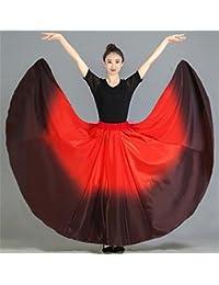 peiwen Falda de oscilación práctica de Las corridas de toros de Las Mujeres Entrenamiento  de Baile Nacional Traje de Baile 4185b4b57eef