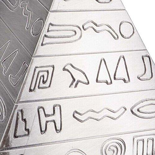 Max & Mix Creative Fashion Pyramide Aschenbecher Aschenbecher mit einem Deckel von ASCHE R ¨ ¦ Tro Carving Tablett porte-rangement Bo? Te-Aufbewahrungsbeutel Home Decor Bar für Männer Raucher silber - 6