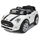 simron MINI Cooper Cabriolet Elektro Kinderauto Kinderfahrzeug Ride-On 12V Kinder Elektroauto -weiss-