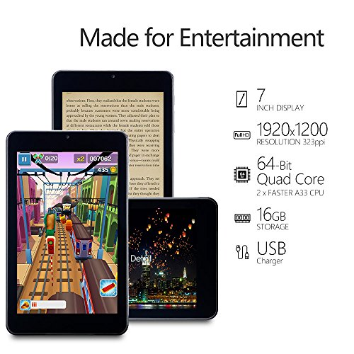 Alldaymall-A-Tablet-PC-Android-51-da-7-pollici-IPS-HD-1920x1200-HDD-da-16GB-RAM-1GB-Processore-A64-Quad-Core-64-Bit-15-GHz-Wi-Fi-Nero