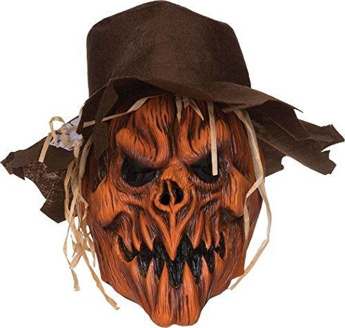 Erwachsene Halloween Horror ausgefallen Party unheimlich Pumpkin Vogelscheuche mit Kapuze Maske & Hut