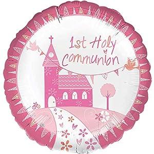 Amscan-3571001Comunión Iglesia rosa estándar Foil Balloon
