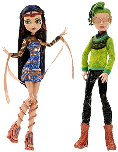 Mattel Monster High CHW60 - Cleo de Nile e Deuce Gorgon: Boo York, Set di 2 bambole