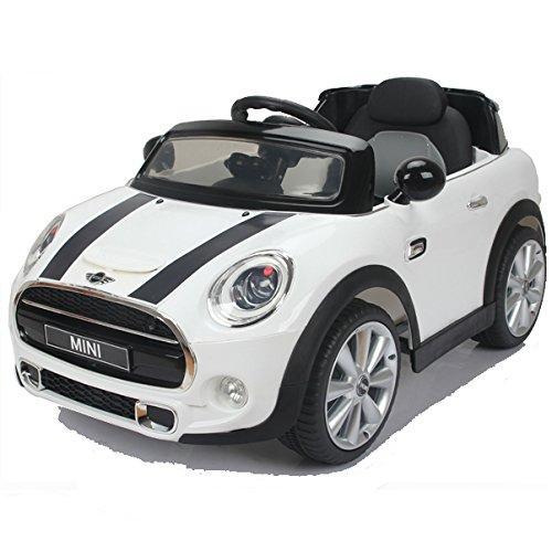 #simron MINI Cooper Cabriolet Elektro Kinderauto Kinderfahrzeug Ride-On 12V Kinder Elektroauto -weiss-#