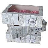 FunCakes Cupcake Box Holz 24x16x8cm, inkl. Einlage, 3 Stück, Cupcakeschachtel, 24 x 16 x 8cm