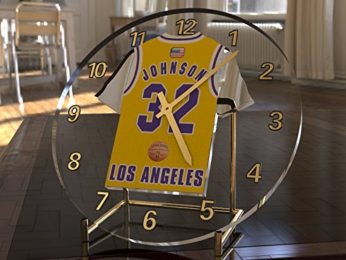 Uhren Johnson (Magic Johnson 32???Los Angeles Lakers NBA Basketball Jersey Desktop-Uhr???Sporting Legends Limited Edition)
