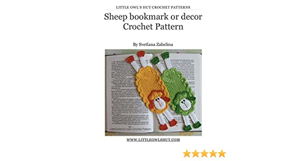 Sheep bookmark Crochet Pattern Amigurumi (LittleOwlsHut) (Crochet bookmark Book 13)