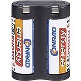 Conrad 650677 Litio 1400mAh 6V batería recargable - Batería/Pila recargable (1400 mAh, Litio, 6 V, Negro, 1 pieza(s))