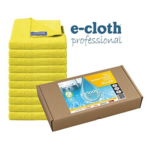 e-cloth 10 Allzweck-Tücher-gelbes Multipack für die professionelle Reinigung, 32 x 32cm