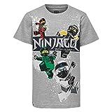 LEGO Jungen T-Shirt Lego Boy Ninjago CM-50227-T-SHIRT, Grau (Grey Melange 912), (Herstellergröße: 116)