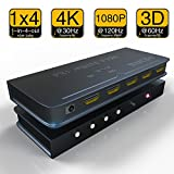 Splitter HDMI 1 in 4 out 4 K * 2 K Active amplificatore supporto 3D Full HD 1080p 1 x 4 HDMI Switch adattatore convertitore per Mac HDTV Blue-Ray Play DVD DVR Xbox PS3 PS4