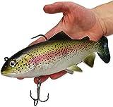 XXL Raubfischköder extrem realistische Regenbogenforelle, beweglich Drillinge Haken Angeln Fischen Spinning - 20 cm