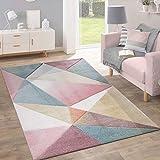 Teppich Kurzflor Modern Trendig Pastell Geometrisches Design Inspiration Multi, Grösse:120x170 cm