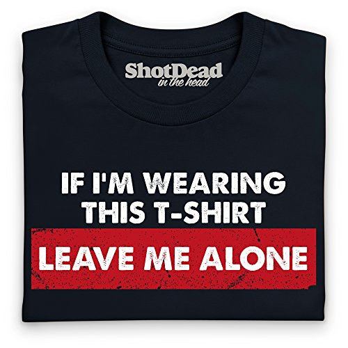 Leave Me Alone T-Shirt, Herren Schwarz