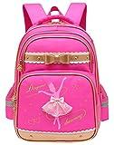 DiTeYaNuo Kinder Schulrucksack Ballett Rucksack Girl School Bag Freitzeit Tasche Sport Kinderrucksack-Rot