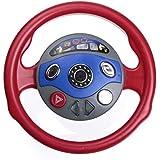 Kungfu Mall gosses trasera juguete de plaza parte ventana cuerno de juego de volante automóvil luz de Sons electrónica