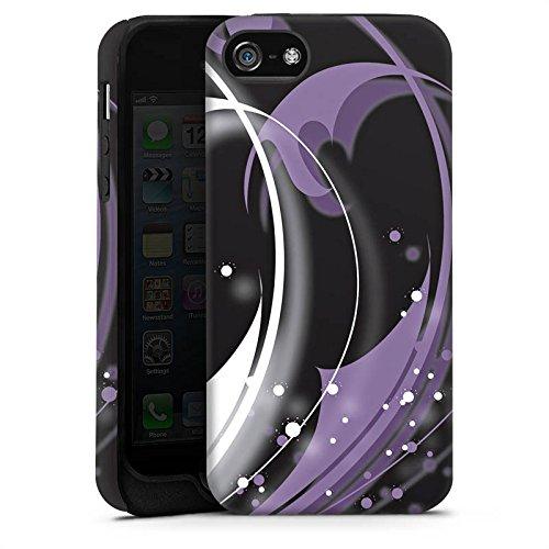 Apple iPhone 4 Housse Étui Silicone Coque Protection Feuilles Ornement Vrilles Cas Tough terne