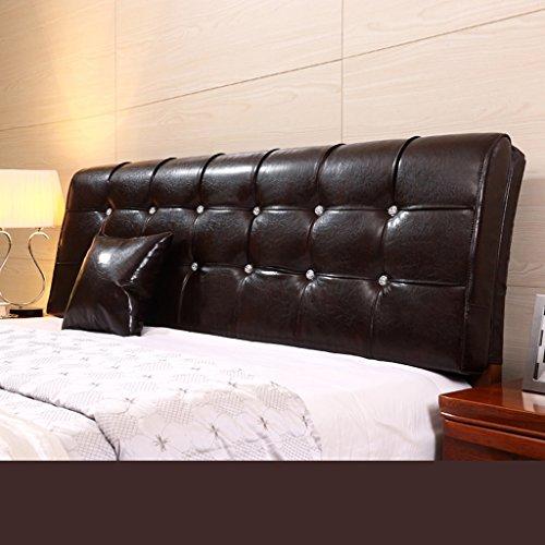 Dossier De Chevet Coussin en cuir en coton Coussin Double oreiller en coton et oreiller ergonomique Protecteur design Pure Color Lumbar Support 58 * 200cm (Couleur : C)