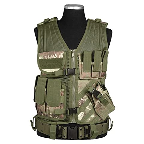 Army Combat USMC Tactical Vest Vegetato Camo