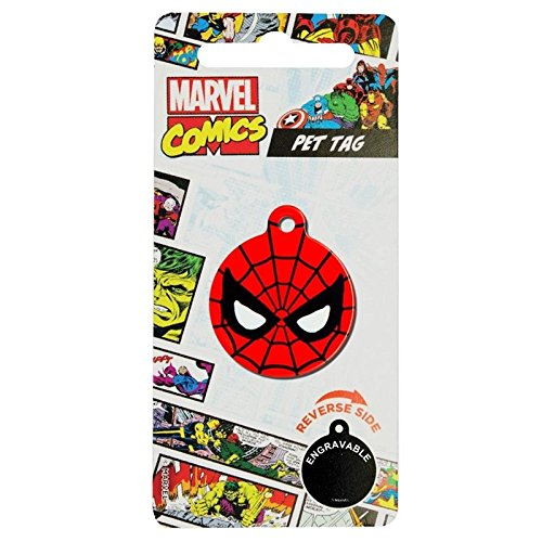 Lizensiertes DC Comics Marvel Comic Hero Haustier Hund Katze ID-Tags 32mm. Spider Man. (Spider-man-hund-tag)