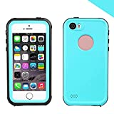 iPhone SE 5SE 5 5S Impermeabile Custodia, FindaGift Ultra Sottile Impermeabile Contro Lo Sporco Snowproof Copertura Completa Di Protezione del Corpo Custodie per iPhone SE 5SE 5 5S (Cielo blu, erba blu)