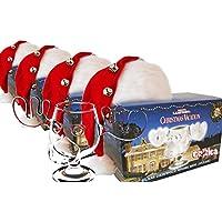 4er Set Schöne Bescherung Elchglas Christmas Vacation Moose Mug aus Glas offiziell lizensiert in Warner Brothers Fotobox inklusive Clark Griswold Weihnachtsmann Mützen - preisvergleich