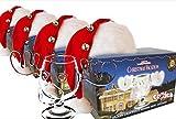 4er Set Schöne Bescherung Elchglas Christmas Vacation Moose Mug aus Glas offiziell lizensiert in Warner Brothers Fotobox inklusive Clark Griswold Weihnachtsmann Mützen
