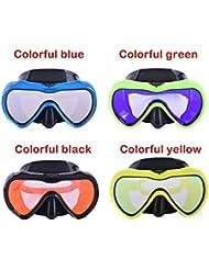 c3c26f2b6c HEYG-Diving equipment Máscara de esnórquel Profesional Gafas para Adultos  Marco Grande antivaho Que bucea