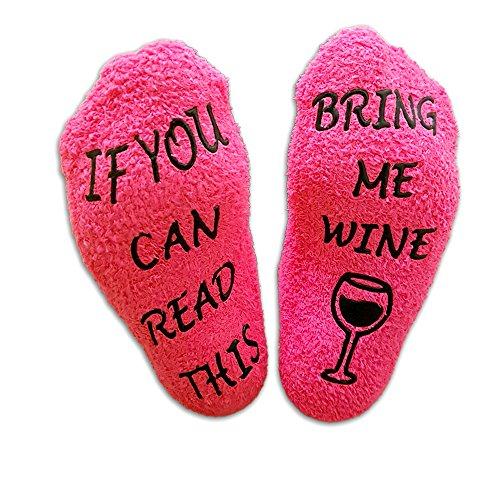 """Luxuriöse Wein-Socken mit Muffin-Geschenk-Verpackung: Romantische Geschenke für sie mit der """"If You can Read This Bring me Wine""""-Phrase - Lustiges Wein-Zubehör für Frauen - Geschenk für Hauseinweihung (Lustige Jahrestags-geschenke)"""