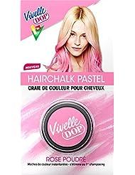 VIVELLE DOP Hairchalk Pastel Craie de Couleur pour Cheveux Coloration Éphémère Rose Poudré 3,8 g