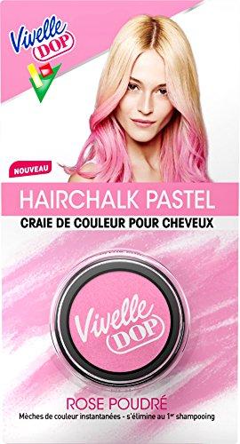 Vivelle Dop - Hairchalk Pastel Craie de Couleur pour Cheveux Coloration Éphémère Rose Poudré - 3,8 g