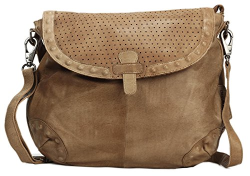 Greenburry Stainwashed Borsa a tracolla pelle 40 cm clay