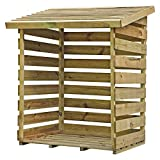 Waltons EST. 1878 3x3 Wooden Garden Storage Log Store, Timber Board Construction, Pressure Treated with 15 Year Guarantee, Pent Roof, (3 x 3 / 3ft x 3ft) 3-5 Day Delivery