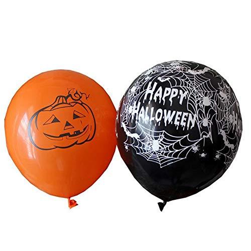 10 Stücke 12 Zoll Latex Ballons Spinnennetz Horror Halloween Dekoration Ball Kinder Spielzeug Geburtstag Party Dekoration Urlaub Feier Geschenk (UnitCount : 5 pcs pumpkin+5 pcs Spider web)